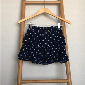 Kids ruffle skirt with stars